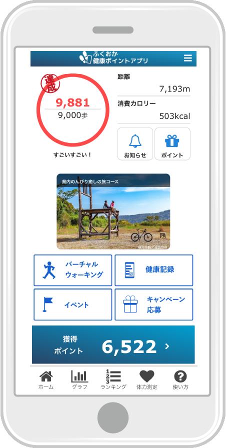 ふくおか健康ポイントアプリ